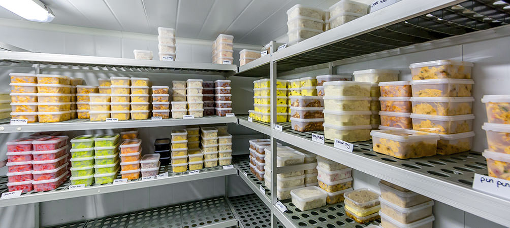 Sandwich fillings all stored in refridgerated storage